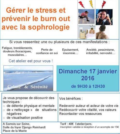 Atelier prévention du burnout du 17 janvier 2016