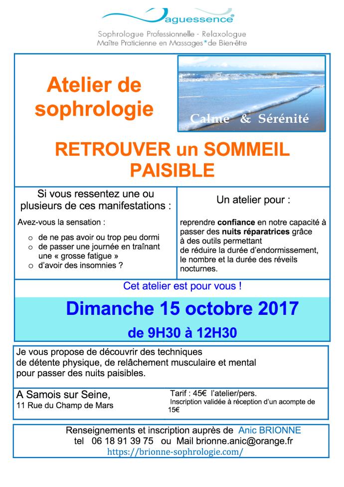 Atelier Sommeil 2017-10-15