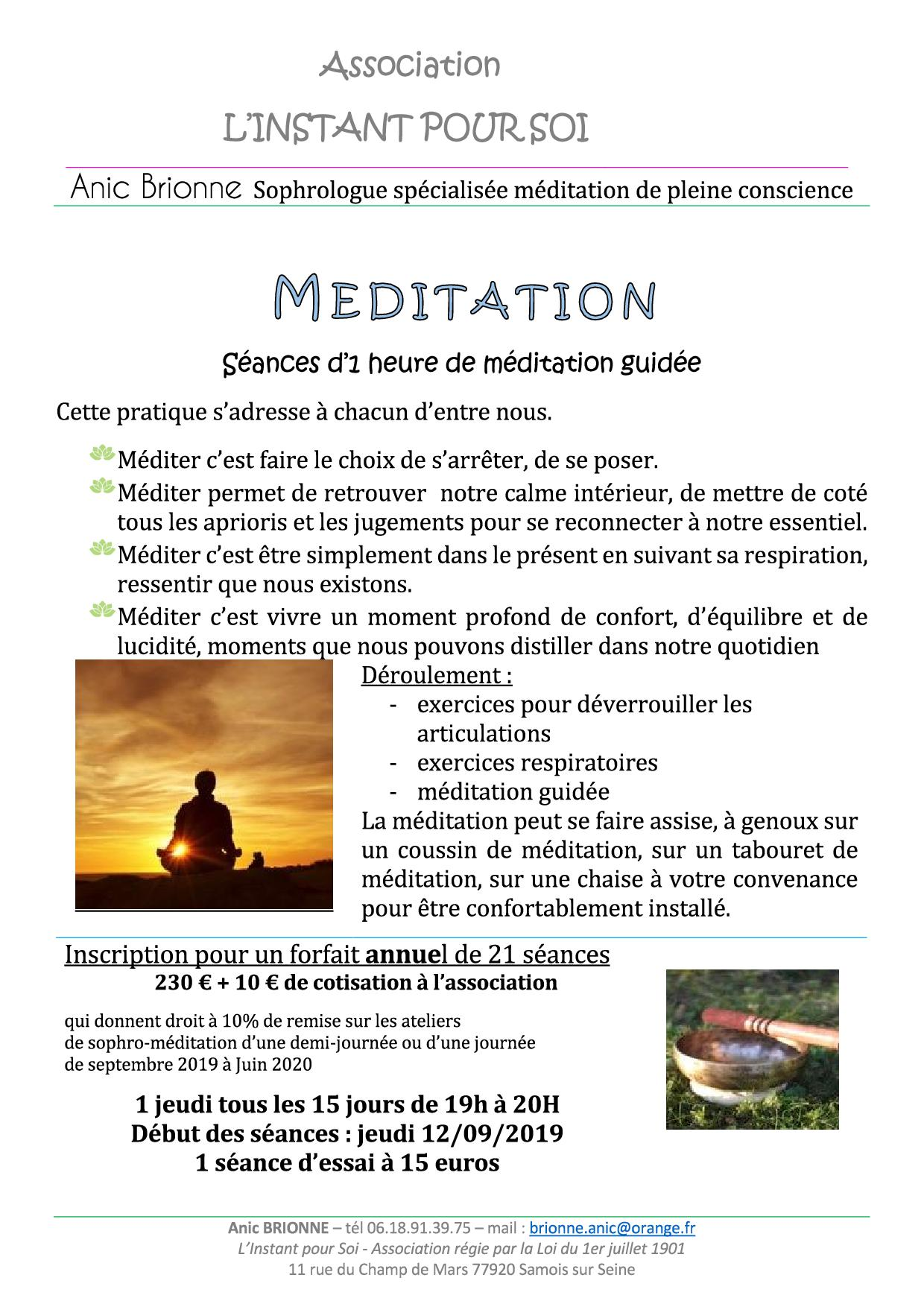 Méditation 2019-2020